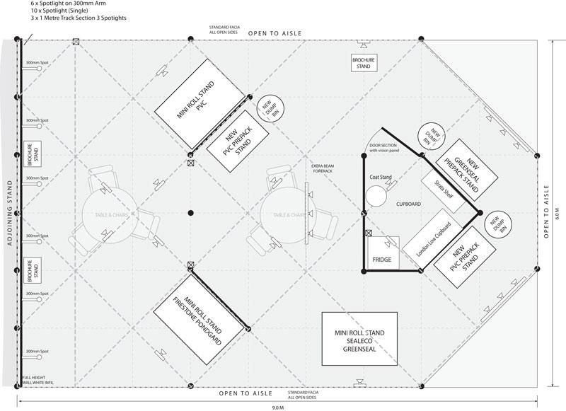 Gordon Low Exhibition Design Shell Scheme Plan