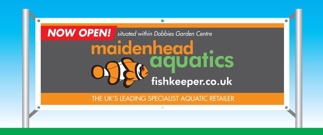 Maidenhead Aquatics PVC Banner Design