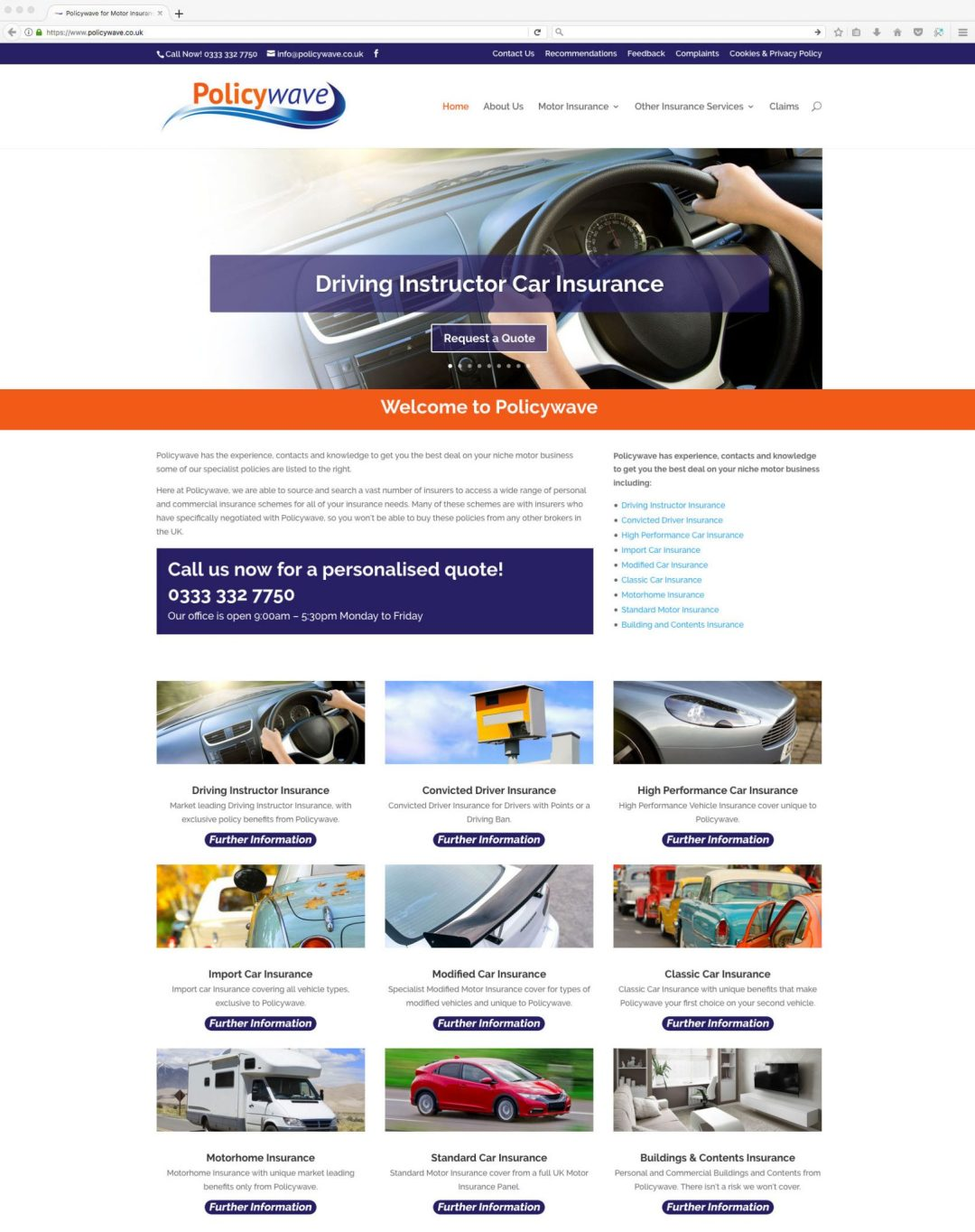 Policywave for niche motor insurance