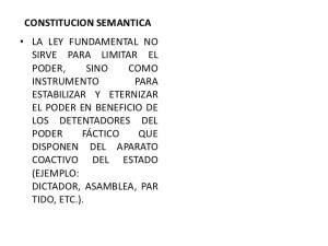 Constituciones Semánticas