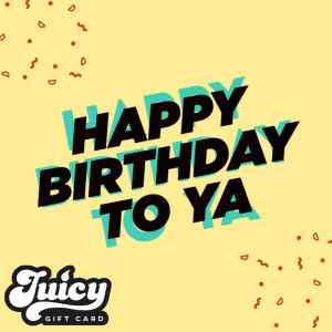 Virtual Happy Birthday Gift Card