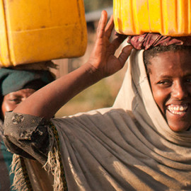 Our fave charit, charity: water, helps build water wells and projects in places that really really need them.