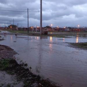 calles inundadas alto comedero