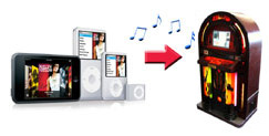 Ipod connect Jukebox hire