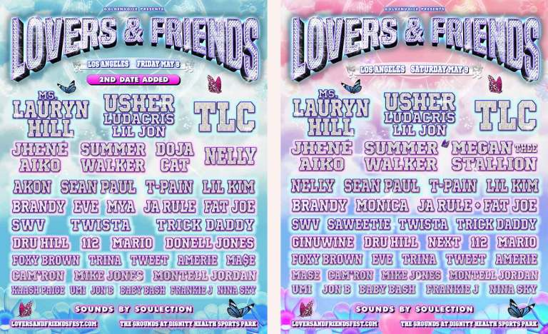 Lovers & Friends Festival To Feature Lauryn Hill, Usher, TLC & More