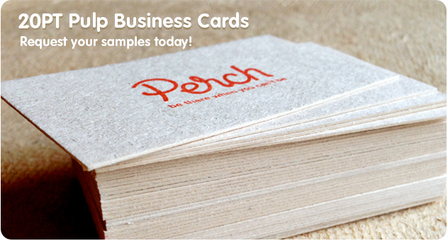 Pulp Business Cards From Available In