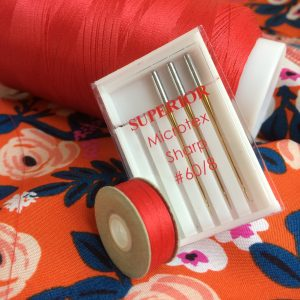 Bottom Line thread with Microtex sharp needles