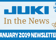 January 2019 Newsletter – Juki In The News