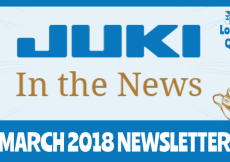 March 2018 Newsletter – Juki In The News