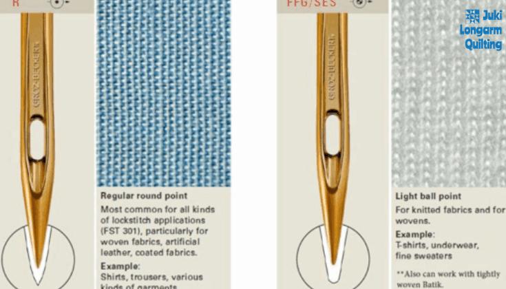 Juki TL-2200QVP Longarm Recommended Needles