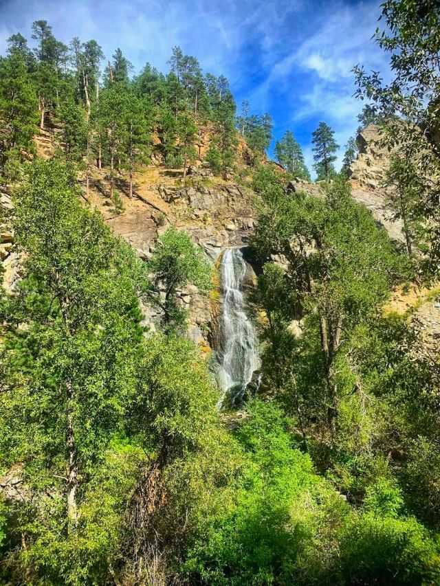 Bridal Veil Falls in Spearfish Canyon South Dakota 01