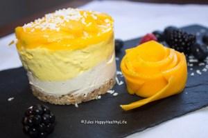 Tropischer veganer Cheesecake Jules HappyHealthyLife
