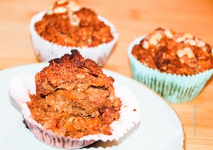 Carrot Apple Muffin vegan, gluten free with less sugar