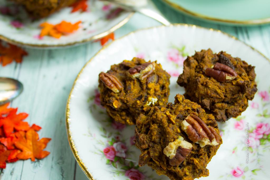 Mini Kürbiskuchen Muffins glutenfrei und vegan - Jules HappyHealthyLife