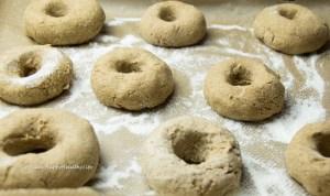 Gluten-free bagels rising