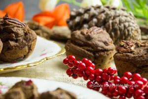 Vegane, glutenfreie Cranberry Muffins ohne raffinierten Zucker