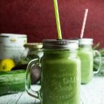 Grüner Detox Protein Smoothie glutenfrei, vegetarisch