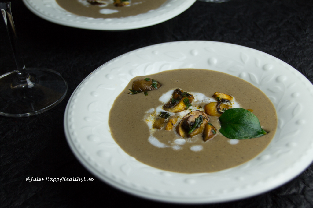 Smoky Mushroom Cream Soup gluten free, vegan