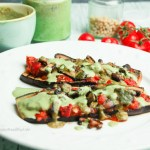 Yummy eggplant pizza glutenfree, vegan, low carb