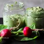 recipe for vegan Radish Leave Pesto gluten free