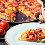 Einfache, glutenfreie Tomaten Tarte ohne ausrollen