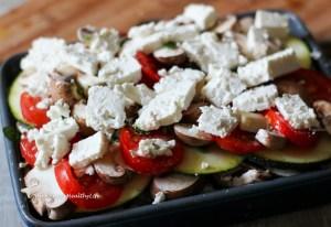 Eine Freude für den Magen und den Geldbeutel - schneller Gemüseauflauf mit Feta