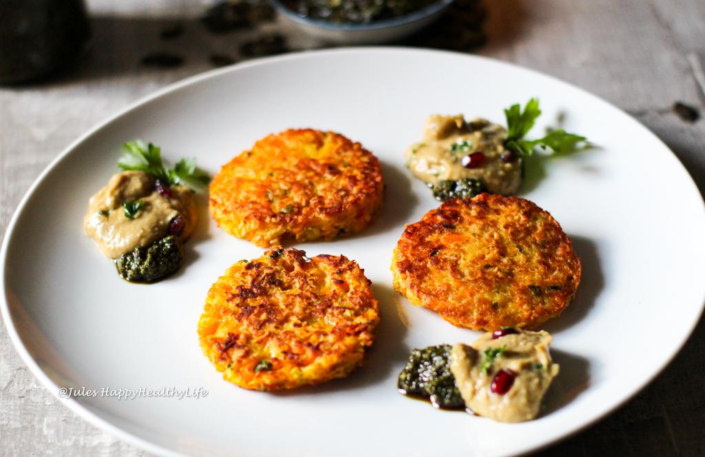 Recipe for gluten free, vegetarian Pumpkin Potato Fritters