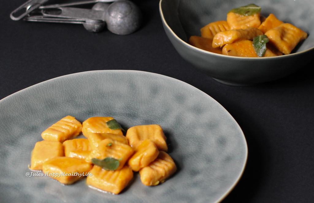 Glutenfreie Rezepte - Süßkartoffel Gnocchi in Salbeibutter