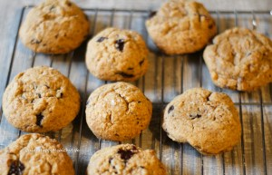 Cookies make me happy, especially these gluten-free Chocolate Chip Cookies with Pecans and some Sea Salt on top