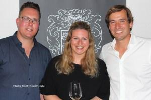 Marvin Szikorra (Das Weinkonzept), Christiane Koebernik (Emmerich-Koebernik) und Jochen Dreissigacker (Dreissigacker)