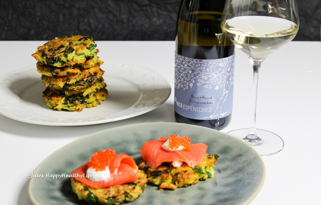 Pairing - Latkes with Chard and Herz + Hand 2017 Scheurebe by Nico Espenschied
