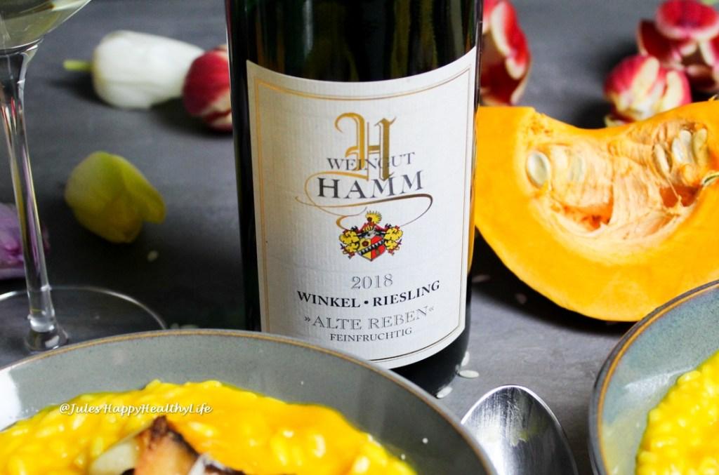 Weinbegleitung zum Risotto Winkel Riesling Alte Reben 2018 vom Weingut Hamm im Rheingau