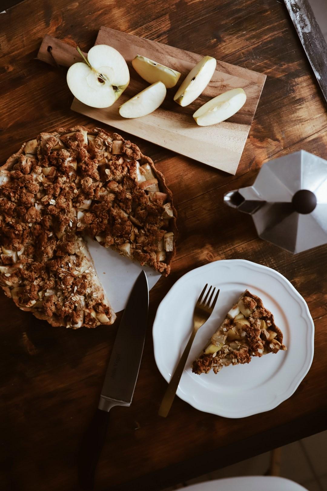 Veganer Apfel-Streusel-Kuchen