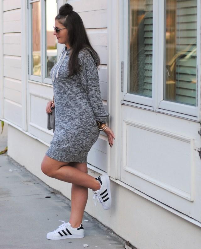 Express Hoodie Sweater Dress Adidas Superstars