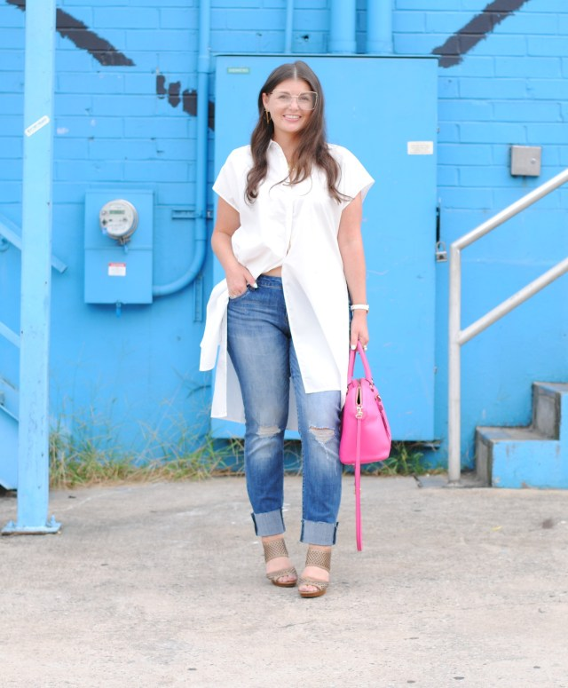 How to Style a White Top and Denim