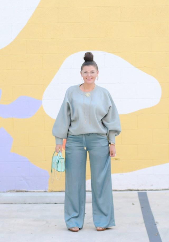 Mint Sweater Pant Set