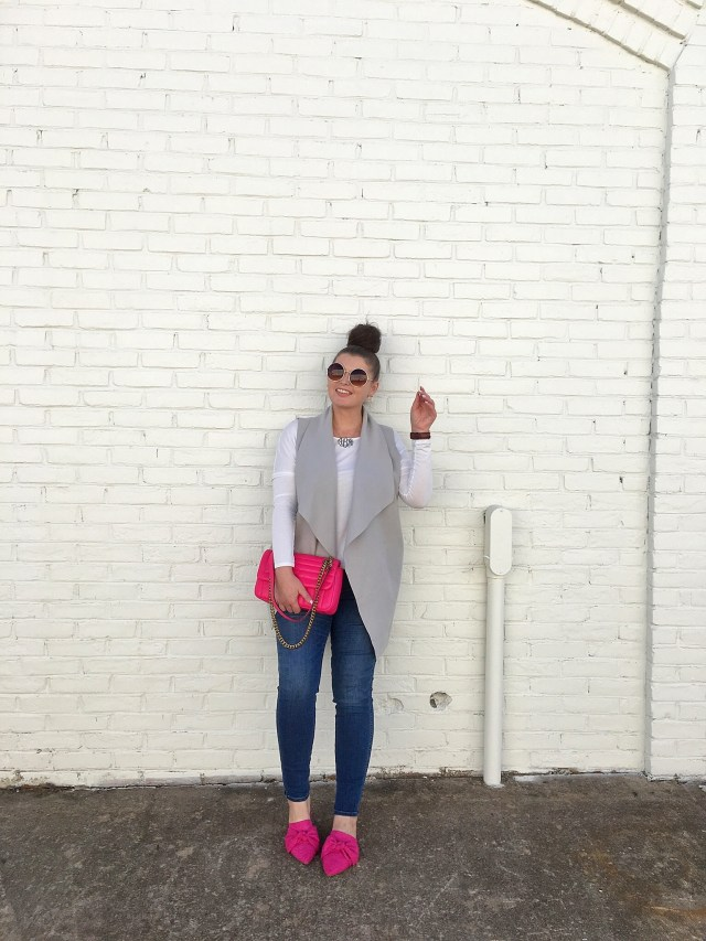#OOTD HOT PINK SHOES AND HANDBAG