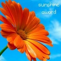 sunshine award image: sunflower