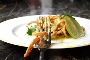 Karotten-Nudeln-Gabel