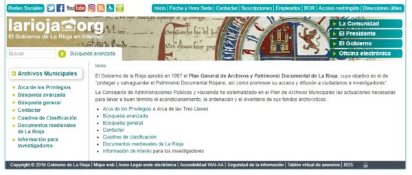 Archivos Municipales - Portal del Gobierno de la Rioja
