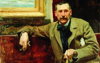 Benito Pérez Galdós retratado por Joaquín Sorolla en 1894