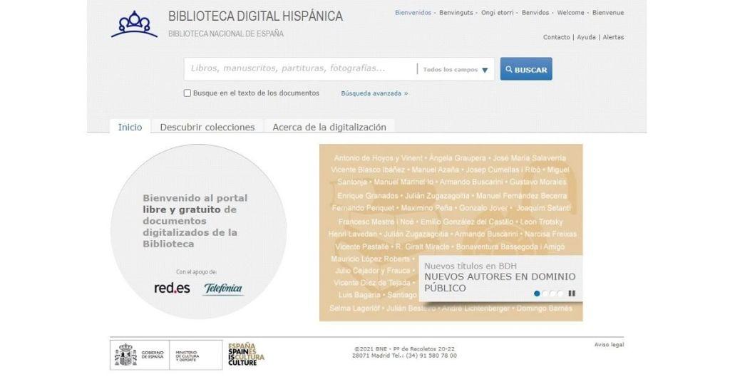 Biblioteca Digital Hispánica miles de libros digitalizados de acceso libre