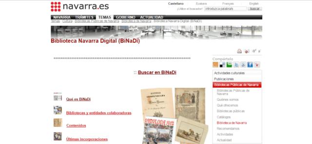 Biblioteca Navarra Digital (BiNaDi)