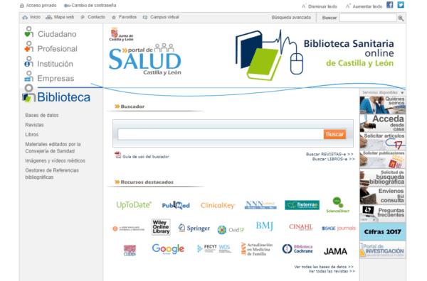Biblioteca Sanitaria online de Castilla y León