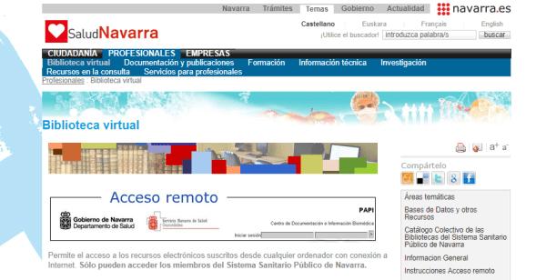 Biblioteca Virtual del Servicio Navarro de Salud
