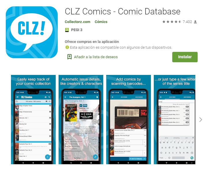 CLZ Comics Comic Database