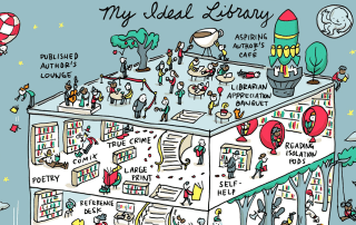 Cabecera my ideal library Grant Snider