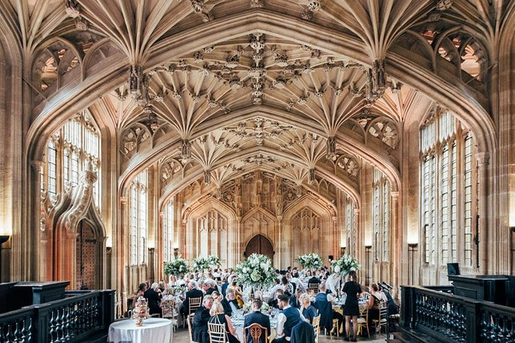 Celebración de bodas en la Biblioteca Bodleiana de la Universidad de Oxford