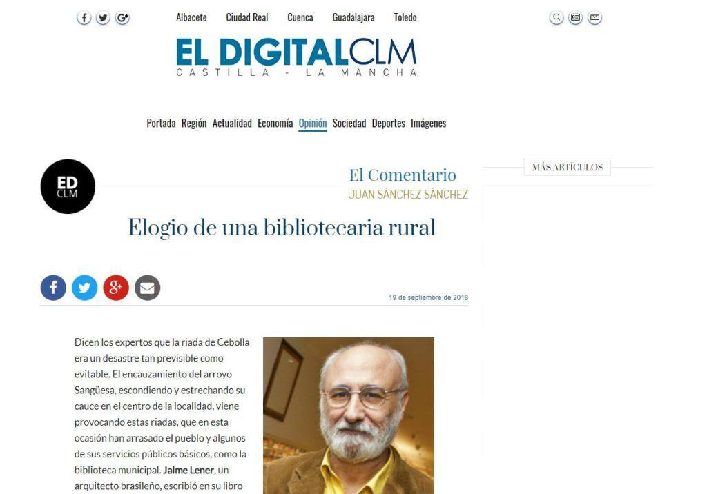 Columna de Juan Sánchez Sánchez (Exdirector de la Biblioteca de Castilla-La Mancha) en El Digital Castilla La-Mancha