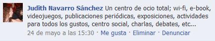 Comentario en Facebook RecBib